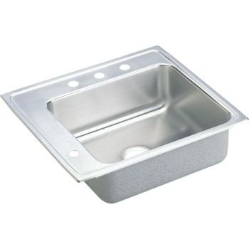 Elkao|#Elkay DRKAD222055L4 18 Gauge Stainless Steel 22 Inch x 19.5 Inch x 5.Inch single Bowl Top Mount Sink- 4 - Stainless Steel Elkay Classroom Sinks