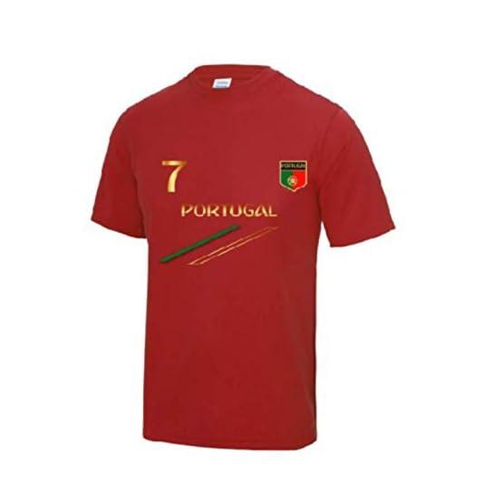 Awdis Maillot - Tee Shirt de Foot Portugal Enfant Rouge