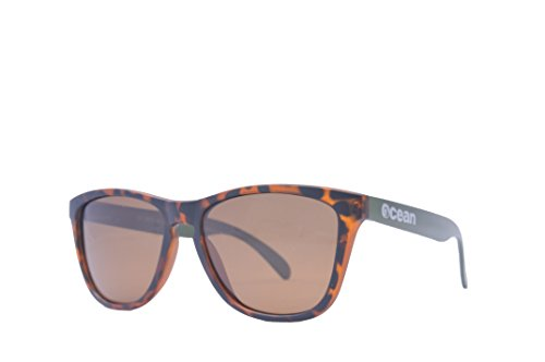 Patillas Sol Marrón Unisex Verdes Sunglasses Sea Gafas Talla Marrón de Color Ocean Carey única Amarillo wHfI7qX