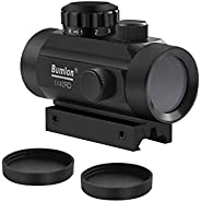 Red Green Dot Sight Rifle Scope Reflex Holographic Optics Tactical Fits 11mm/ 20mm Rail with Lens Cover for Ai