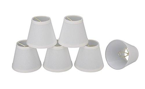 32103-6 Small Hardback Empire Shape Chandelier Clip-On Lamp