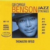 George Benson Guitar Strings (Dr Thomastik GR112 Jazz Guitar Strings: George Benson 6 String Set - Pure Nickel Round Wounds E, B, G, D, A, E Set)