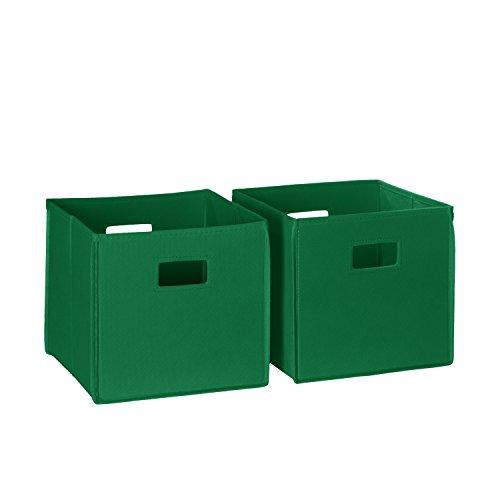 RiverRidge 02-012 2-Piece Folding Storage Bin, Green]()