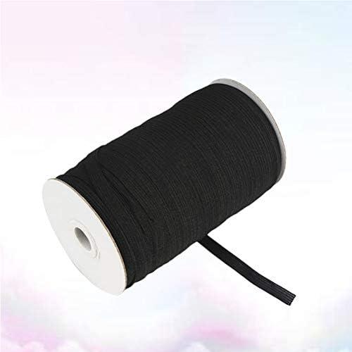 Healifty 伸縮性のあるスプール伸縮性のある伸縮性のある編み縫い伸縮性のあるバンド(黒)