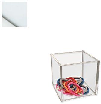 Caja de acrílico vitrina de metacrilato - 75 mm - cuadrado blanco ...
