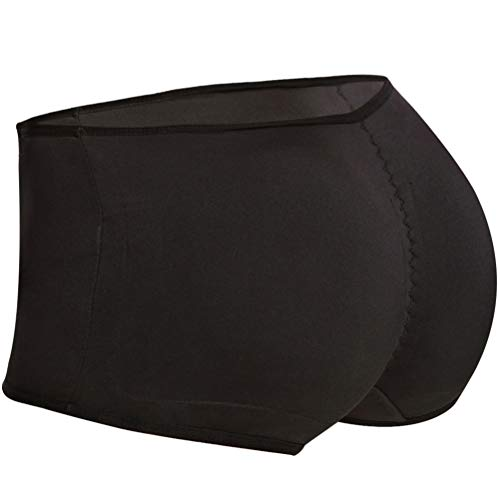 Seamless Padded Butt Lifter Panties Hip Enhancer With Removable Pads Womens Boy ()