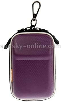 GuiPing Universal Mini Digital Leather Camera Bag Size Color : Silver 130 x 85 x 55mm Durable