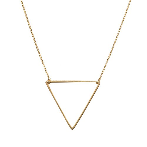 - Triangle Necklace | SPUNKYsoul Collection (Large Gold)