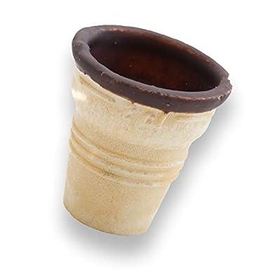 Taza de porción de waffle dentro de chocolate para ponche de huevo, helado y postre 45xØ45mm | 48 piezas: Amazon.es: Alimentación y bebidas