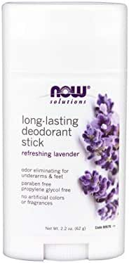 Now Foods Deodorant Stick, Lavender, 2.2 Ounce (2 Pack)