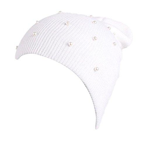 Turban Retro Fitted Head Cover Wrap Hat Cap Hair Loss (white) - 3