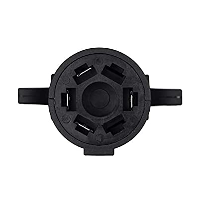 Miady Trailer Wiring Adapter, Heavy Duty Weatherproof 7 RV Blade to 4 Flat Trailer Light Connector Plug: Automotive