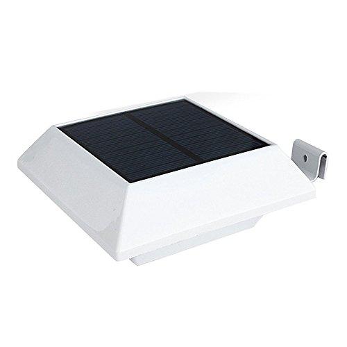 Euone Solar Light Clearance , 4 LED Solar Power Motion Sensor Garden Security Gutter Spot LED Flood Light