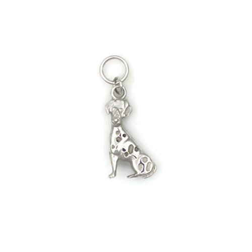 14Kt White Gold Dalmatian Charm, 14Kt White Gold Dalmatian Pendant, Donna Pizarro, Animal Whimsey Collection by Donna Pizarro Designs