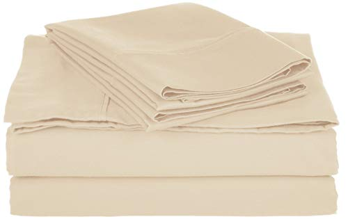 GoLinens Comfy Cotton-Blend Sheet Set Ivory/Split ()
