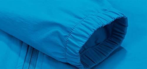 Autunno Giaccone Outdoor Sweat Giacca Antivento Chiusura Sciolto Giovane Traspirante Allentato Women Jacket Outerwear Primaverile A Moda Cerniera Eleganti Blau Incappucciato Hipster Cappotto Donna Hwxqd7H