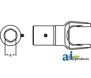 Amazon Ai Products Slip Yoke Part No Ad128118h Industrial. John Deere. John Deere 14t Baler Pto Shaft Diagram At Scoala.co