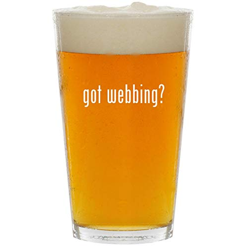 got webbing? - Glass 16oz Beer Pint