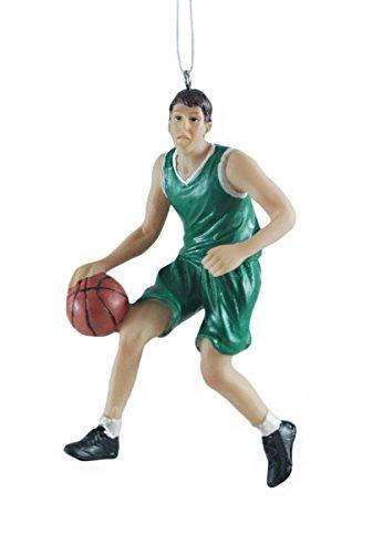 Nba Christmas Uniform - Male Basketball Player Green Resin Hanging Christmas Ornament