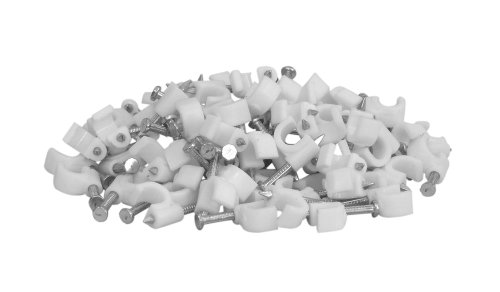 Your Cable Store 100 Pack White Ethernet / RG59 / 6mm Nail in Cable Clips 3 White 100 per pack Nail-in fastner