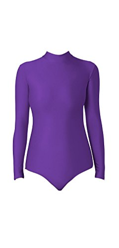 WOLF UNITARD Turtle Neck Leotard for Adult and Child X-Large (Purple Leotards For Adults)
