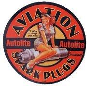 AJ's Signs & Apparel AUTOLITE SPARK PLUGS vinyl sticker decal