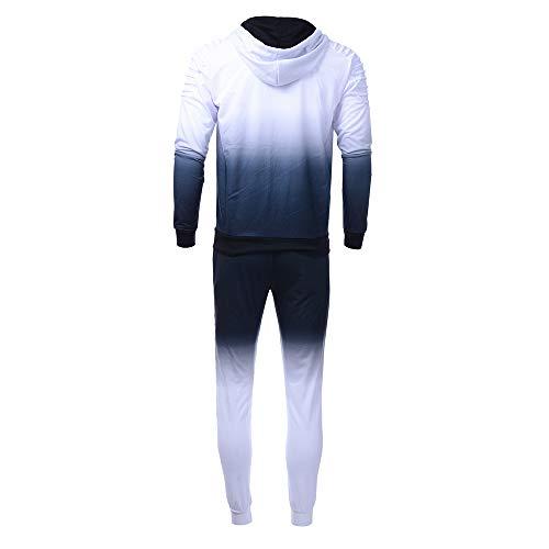 Tenue Capuche Slim Sweatshirt Fit Pièces 2 Camouflage pantalon Sport Survetement Top Homme Blanc De Ensemble Sweat CY7H6w6q5x