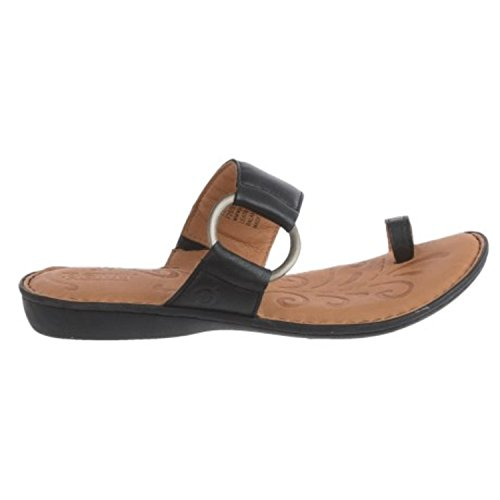 Born Sigge Womens BLACK Leather Sandals (Size: 8, Black)