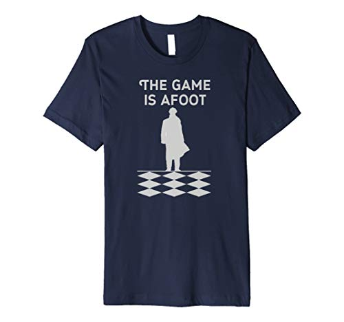 Sherlock Holmes T-Shirt British Detective The Game Is AFoot -