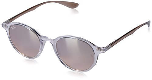 Ray-Ban Injected Unisex Non-Polarized Iridium Round Sunglasses, Transparent, 50.2 - Round Ban Ray Phantos Sunglasses