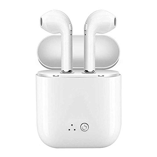 Bluetooth Earbuds, Bluetooth Headphones Wireless Sport Earbuds Mini in-Ear Earphones Stereo Noise Canceling with Charging Case for Workout, Running, Gym (White