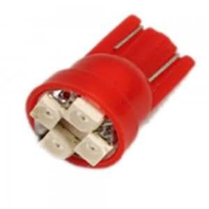 4 LED Car Lamp Light Bulbs 12V Red
