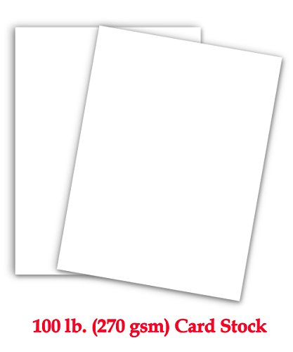 White Cardstock - Extra Thick Card Stock Paper | Great For School And Holiday Craft Projects, Business cards, Stationary printing | 8.5 x 11 Inches | 100 lb Cover (270gsm) | Full Ream of 125 Sheets