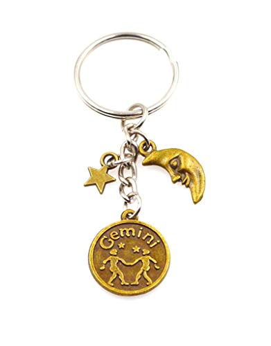 It's All About...You! Zodiac Sign Moon & Star Keychain Key Chain Gemini 109C ()