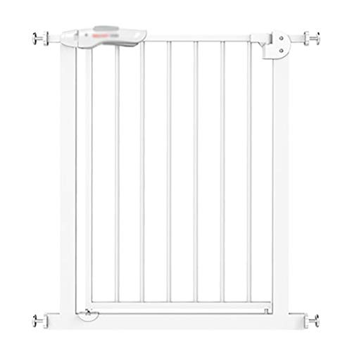 Extra Wide Safety Gate with Pet Door, Easy Walk Indoor Thru Gate Metal Expandable Baby Pet Safety Gate, Pressure Mount (Size : 85-94cm)