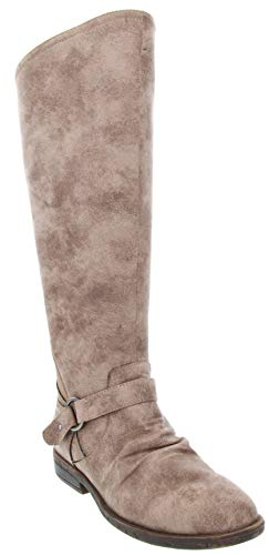 (Rampage Women's Iamba Dress Over The Knee Hraness Treatment Boot Ladies Inside Zip Gore Boot Taupe)