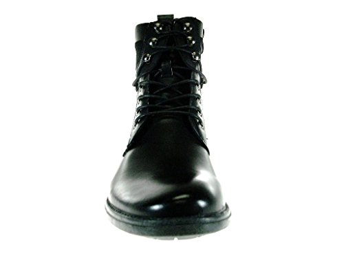 Bonafini Heren D-708 Militair Geïnspireerde Veterlaarzen Zwart