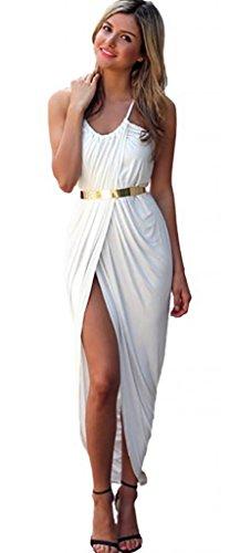 V-SOL Mini Bohemia Cocktail Dress Vestido Para Mujer Lady Cóctel Playa De Noche Nocturno (2XL, Blanco): Amazon.es: Juguetes y juegos