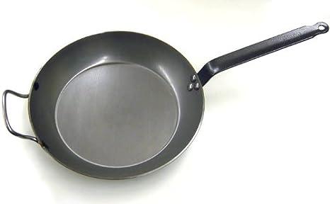 De Buyer Coupe Lyonnaise - Sartén para freír redonda, mango con chapa de hierro, 24 centímetros: Amazon.es: Hogar