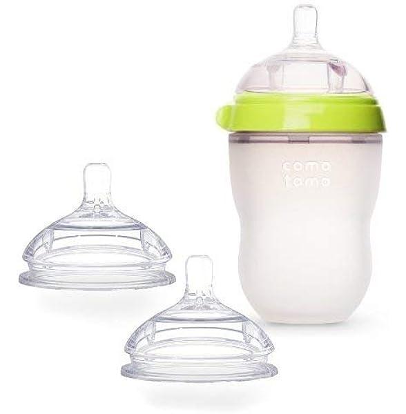 2 Count 8 Ounce Comotomo Baby Bottle Green