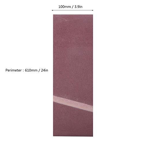 10PCS 610 x 100MM紙やすりで磨くベルトの木製の家具ハードウェアのための酸化アルミニウムの研摩ベルトの紙やすりで磨くバンド(180#)