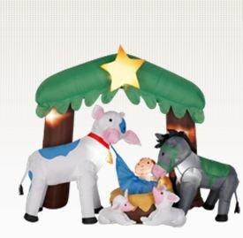 Amazon.com: Belén de Navidad airblown inflable al aire ...