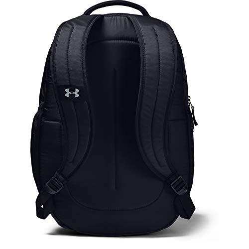 31mSXE5CcPL - Under Armour Hustle 4.0 Backpack, Black (001)/Silver, One Size Fits All