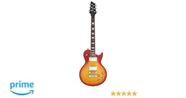 Aria PE350S - Guitarra Les Paul, sombreado: Amazon.es: Instrumentos ...