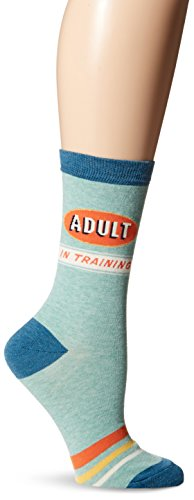 Blue Q Socks, Womens Crew, Adult In Training,Womens Shoe Size 5-10