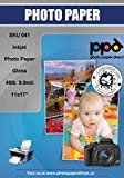 """PPD Inkjet Gloss Photo Paper 11x17"""" 49lbs 180gsm 9.9mil x 50 Sheets (PPD041-50)"""