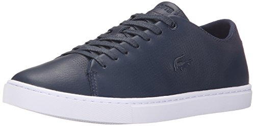 Womens Lacoste Flat Shoes (Lacoste Women's Showcourt Lace 116 1 Fashion Sneaker, Navy, 10 M US)