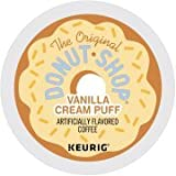 The Original Donut Shop Vanilla Cream Puff Keurig Single-Serve K-Cup Pods, Medium Roast Coffee, 18 Count