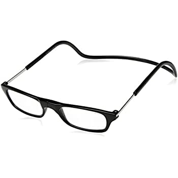 CliC Long Adjustable Front Connect Ready Reader, Black Long, 2.00 Strength by Clic Goggles