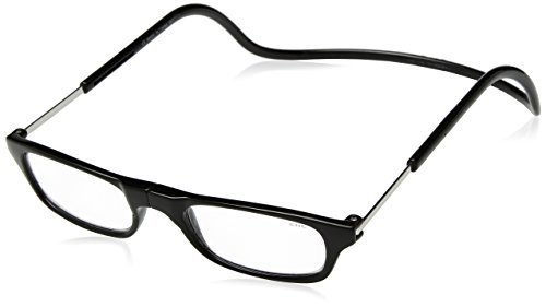 CliC Original Adjustable Front Magnetic Connect Reading Glasses Long Black +1.50 by Clic